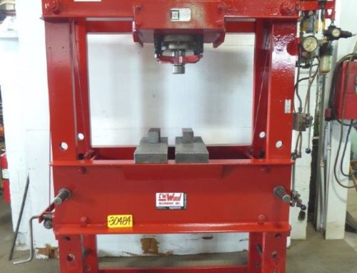 NUGIER AIR OPERATED H-FRAME HYDRAULIC PRESS – 30484